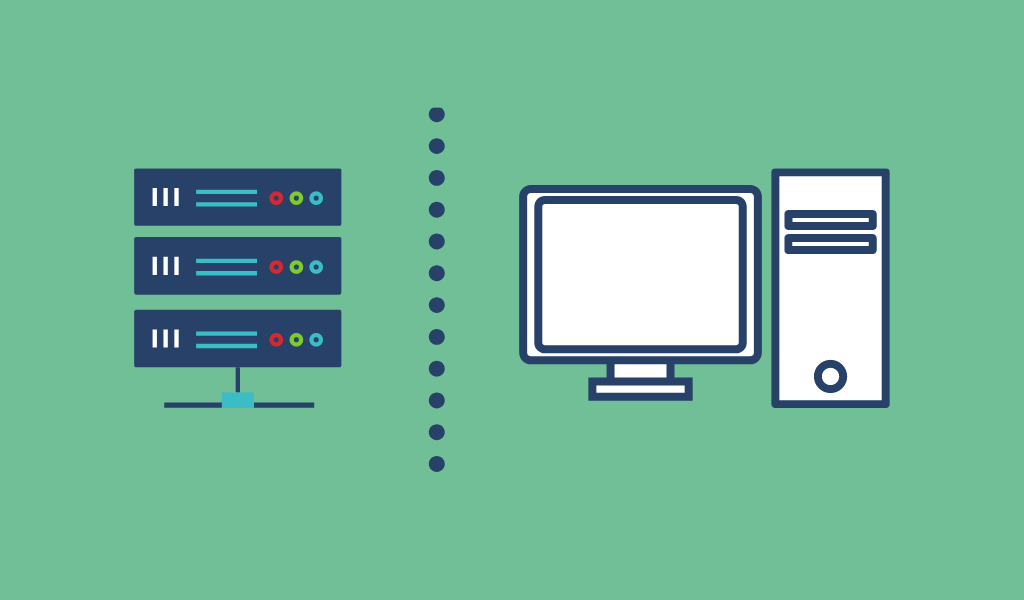 What is the difference between local and webhost?