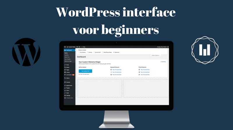 wordpress interface voor beginners