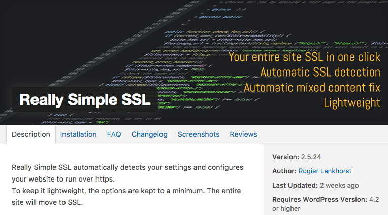 SSL plugin wordpress