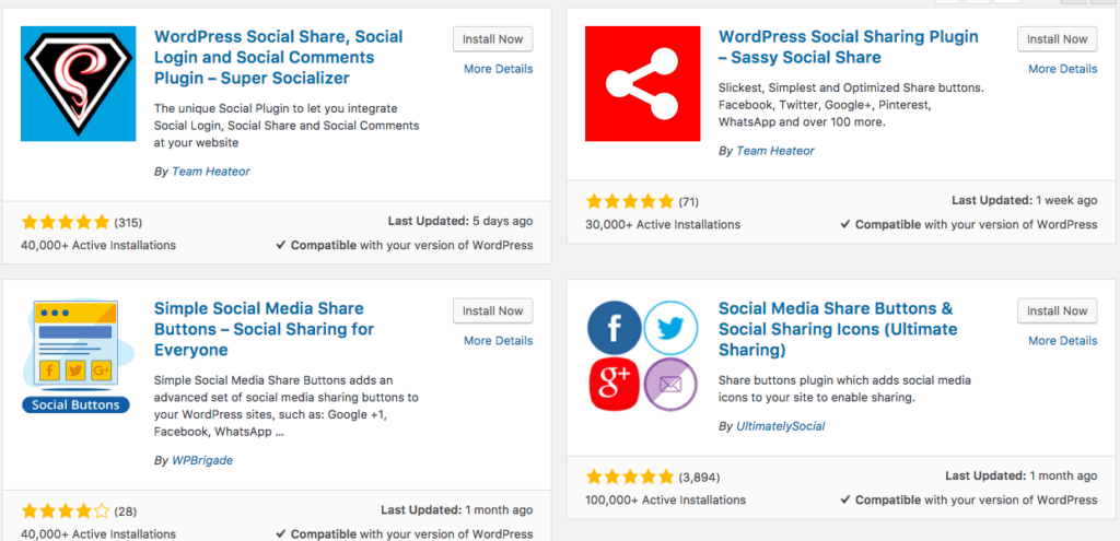 Social Share pluging seo optimised