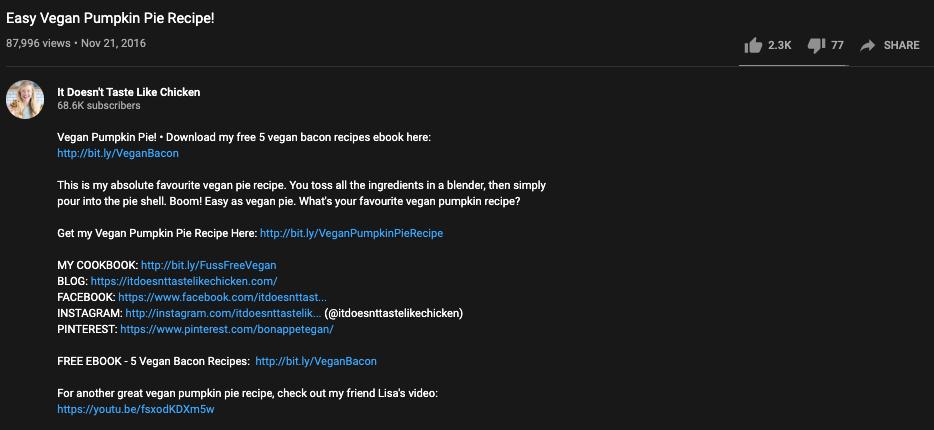 YouTube Seo - Description