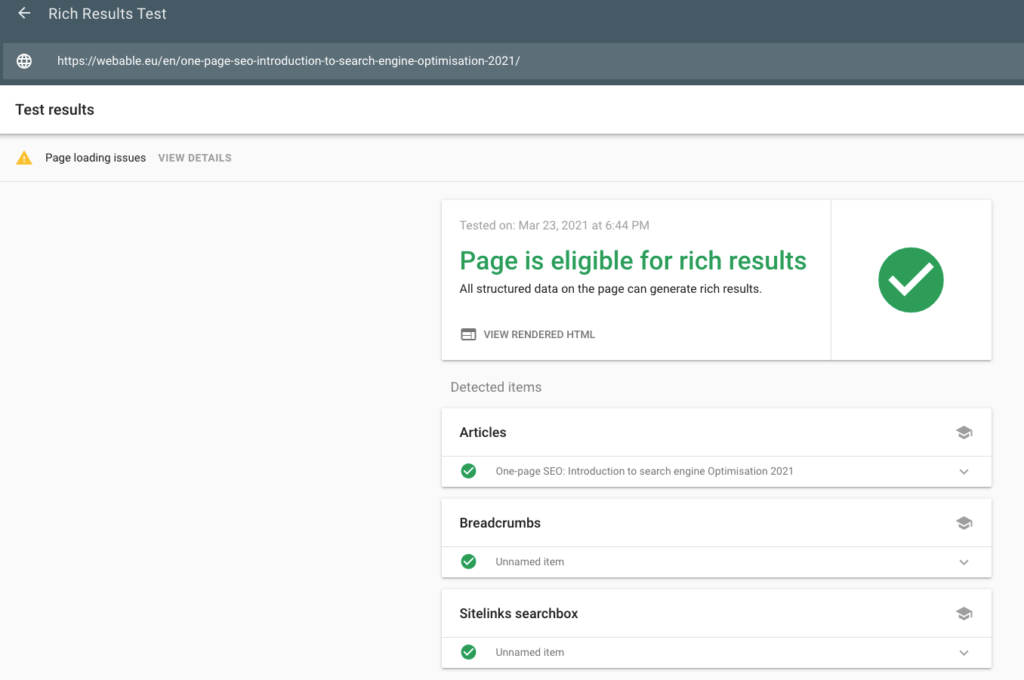 Rich Results Test - SEO