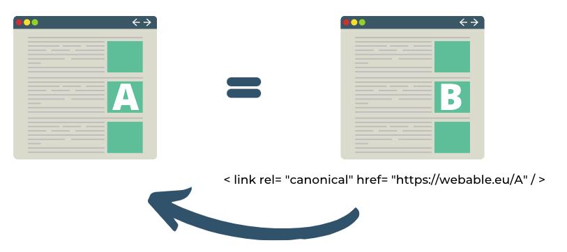 duplicate content - Canonical URL - SEO
